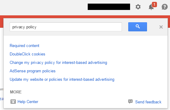 Adsense Privacy Policy Help