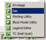 Vulcan start icon, Start Isis