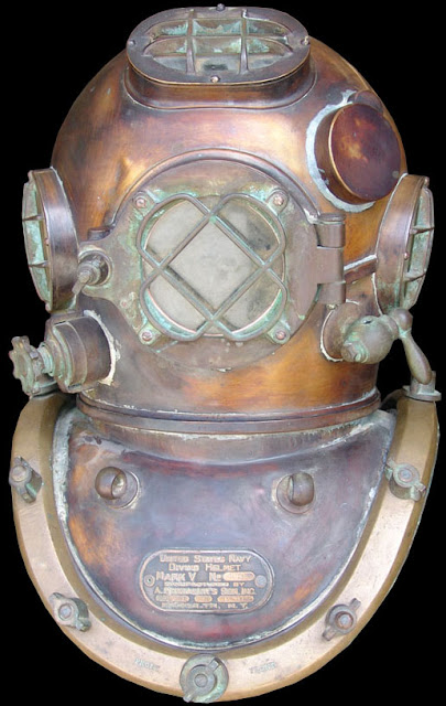 US Navy Mark V Diving Helmet World War 1 Schrader 1917