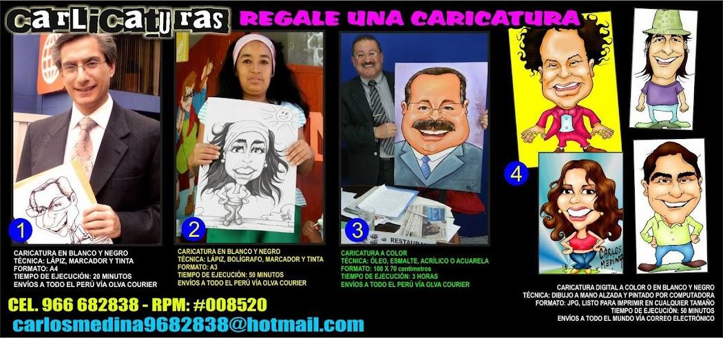 CARICATURAS PARA REGALO,CARICATURAS DE RETRATOS, REGALE UNA CARICATURA,, CARICATURISTA EN PERÚ