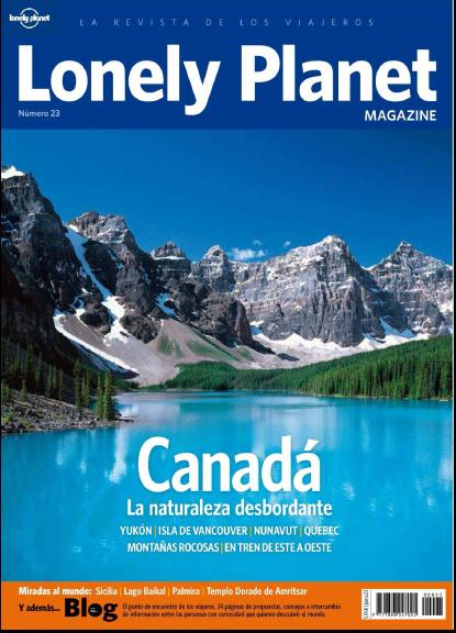 Revista: Lonely Planet No. 23 - Canada [PDF | Español | 30.64 MB]