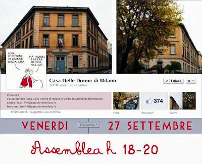 A che punto è la Casa delle Donne di Milano? Venerdi 27 settembre assemblea