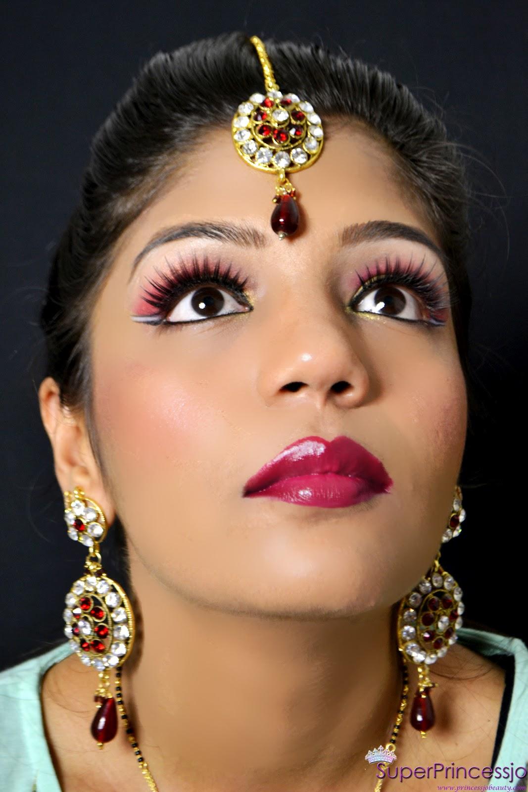 SuperPrincessjo : INDIAN BRIDAL WEDDING MAKEUP -RED GOLD ...