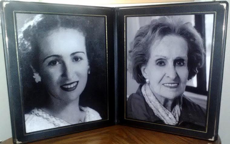 Lucero (Lucy) Soto Ossa Vda de Jaramillo (1920 † 2012)  foto a sus 19 años y a los 90 años