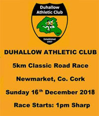 Fast 5k race in NW Cork... Sun 16th Dec 2018