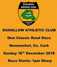 Fast 5k race in NW Cork... Sun 16th Dec 2018