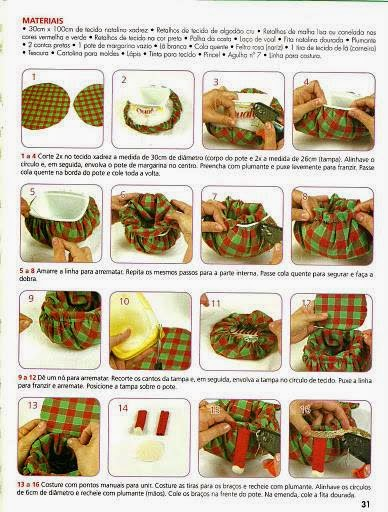 Moldes para costuras de natal
