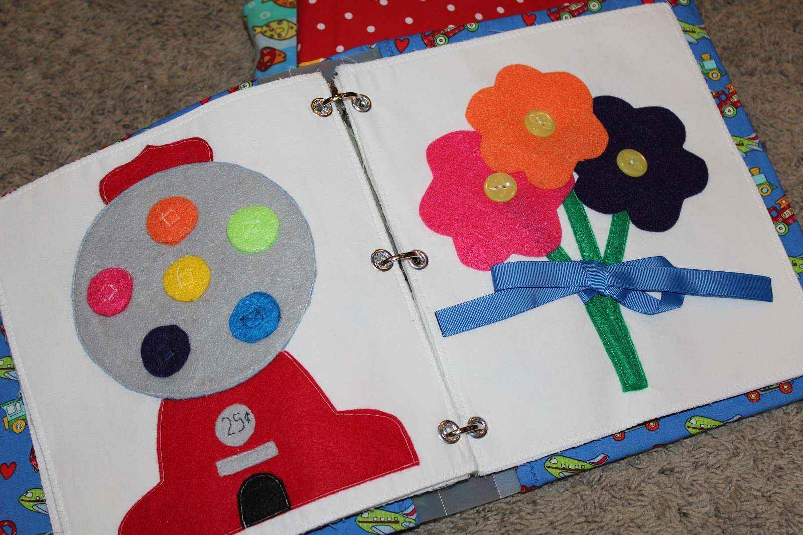 Quiet Books Completed on Busy Binder