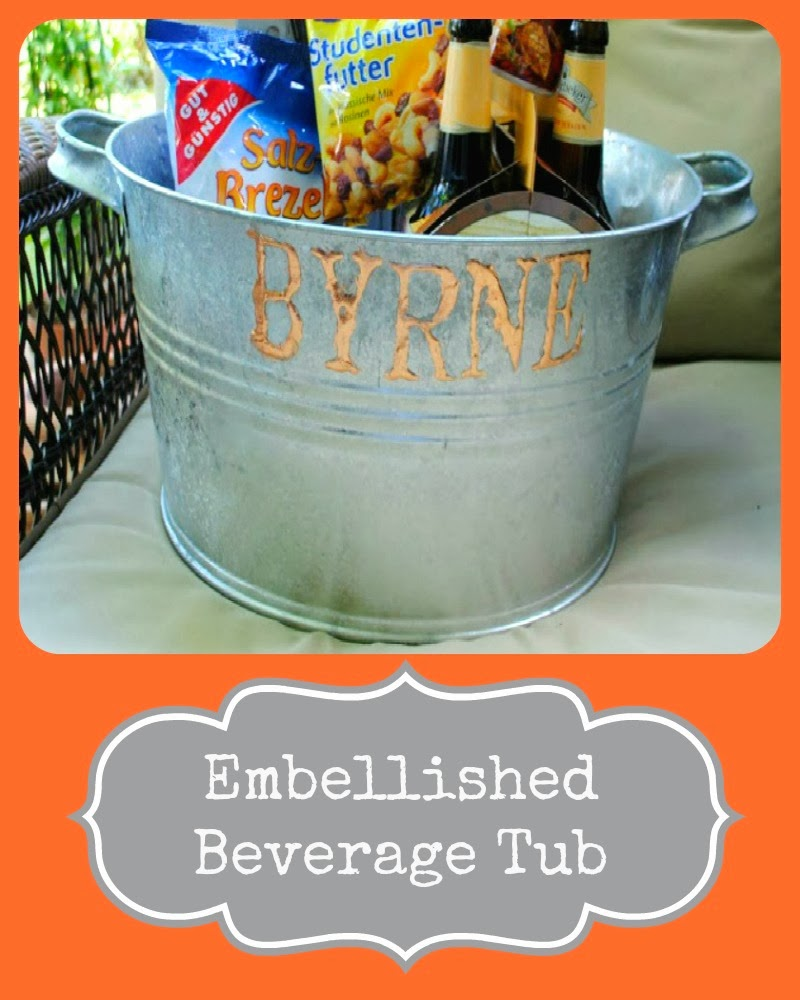 Embellished Beverage Tub