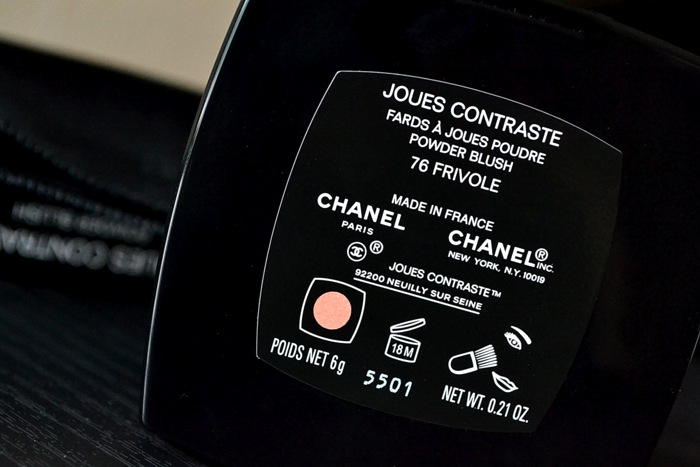 Chanel Joues Contraste Blush Frivole 76 Printemps Precieux de Spring 2013 Makeup Collection Review Swatch FOTD Looks