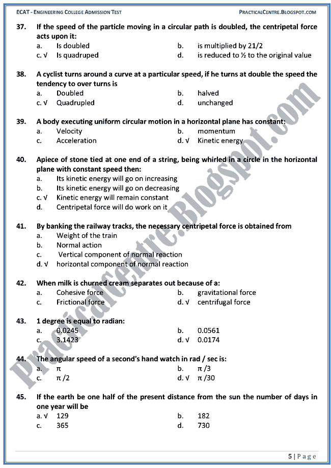 motion-in-two-dimensions-ecat-preparation-mcqs-test-physics-engineering-admission-test