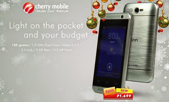 Cherry Mobile Spin: Specs, Price and Availability