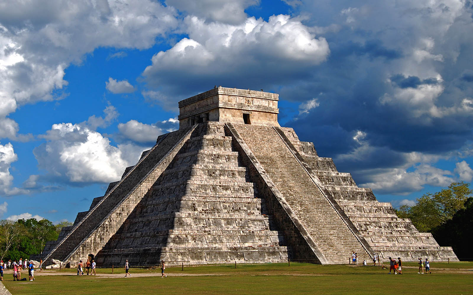 Wallpapers chichen itza yucatan mexico el castillo for Special landmarks
