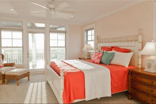 dormitorio paredes naranja