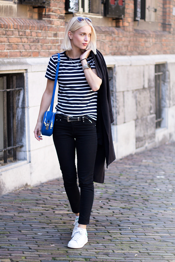 Fashion Attacks outfit ootd stripes Nijmegen Stan Smith