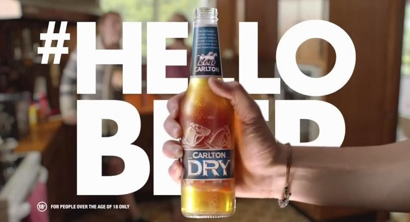 Carlton Dry #HELLOBEER Adverts