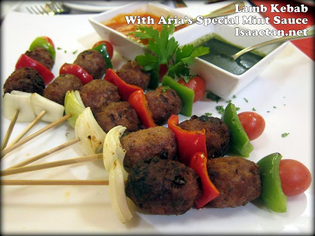 Lamb Kebab with Aria's Special Mint Sauce