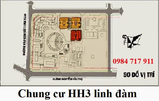 vị trí dự án hh3a linh đàm