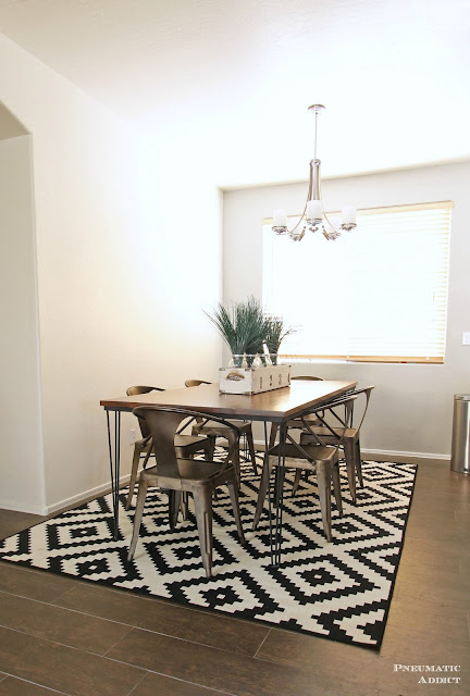 Learn how to build a LARGE hairpin dining table.
