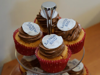 A Styling Event with Lands' End | Morgan's Milieu: Cakes everywhere, including LP's tummy, at the event.