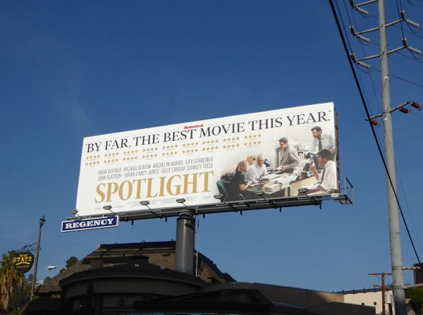 Spotlight movie billboard
