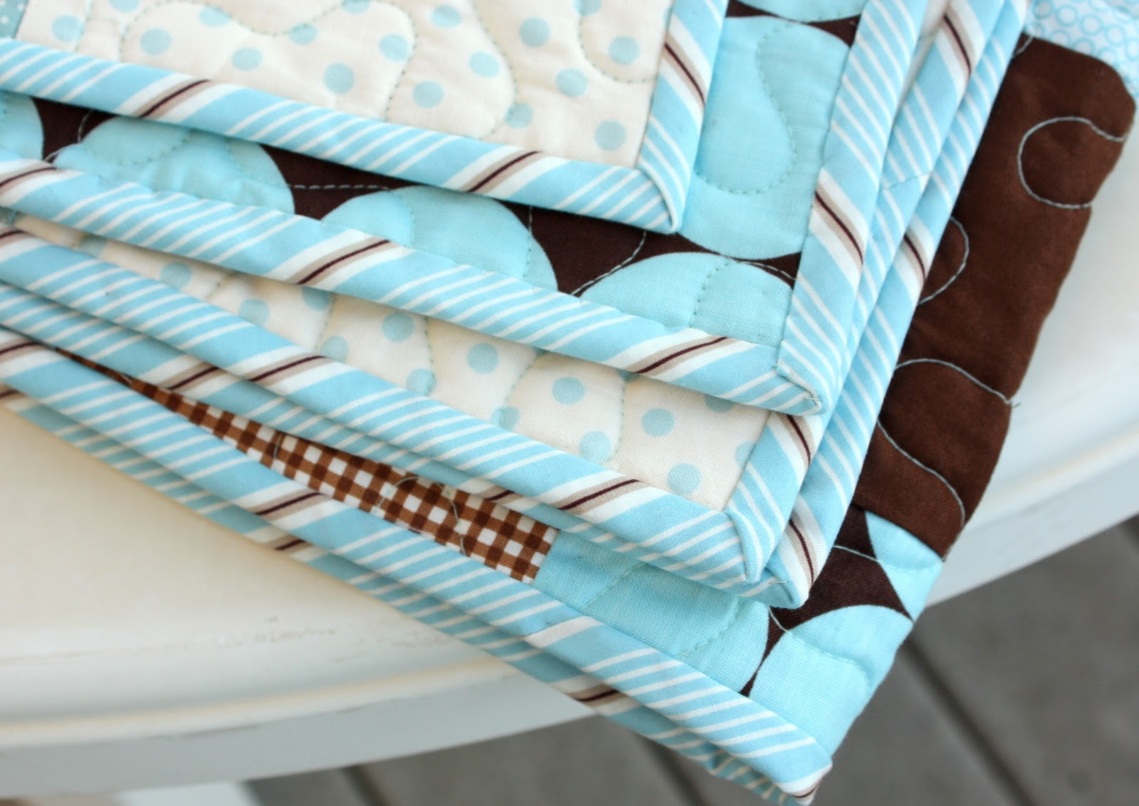 Brown and Blue Baby Quilt - Diary of a Quilter - a quilt blog : blue baby quilt - Adamdwight.com