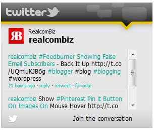 Twitter Activity Feed Widget or badge