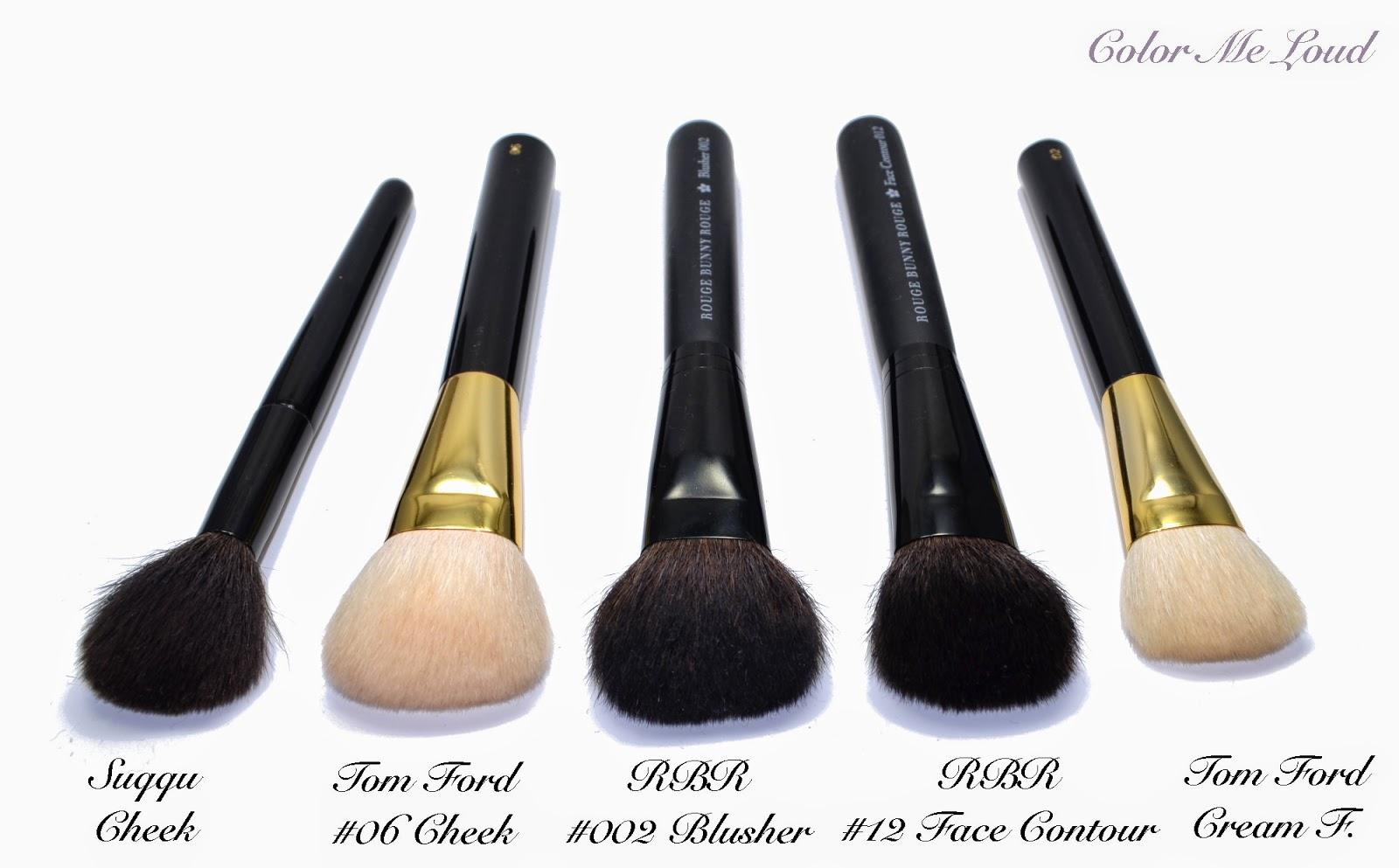 Rouge Bunny Rouge Blusher Brush #002, Face Contour Brush #012 ...
