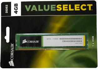 RAM Corsair CMV4GX3M1A1333C9 DDR3