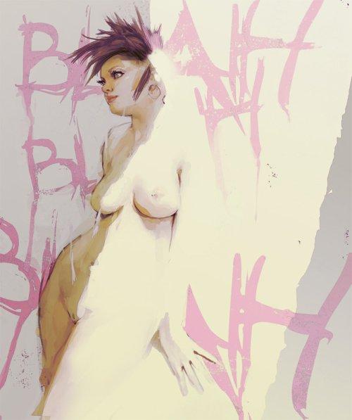 jake wallace ilustração pintura digital mulheres nuas sensual beleza