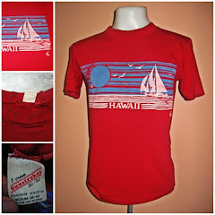VINTAGE 50/50 HAWAII SUNSTROKES POLE TEE