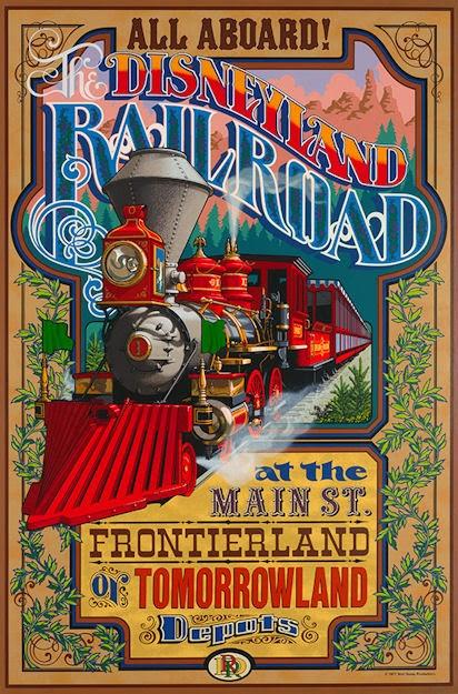 Disneyland Railroad attraction poster