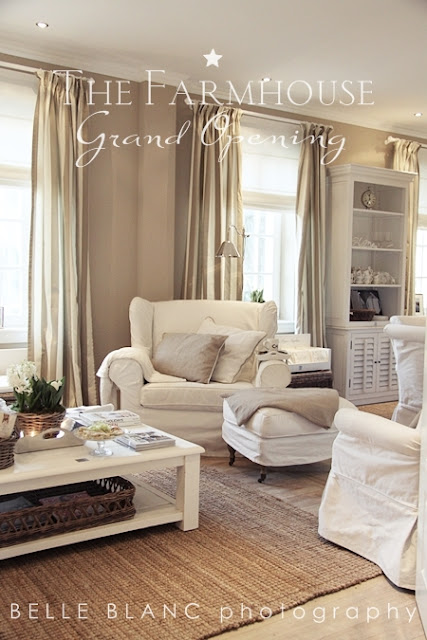 Chateau de lille curtains or blinds or both - Interieur taupe beige ...