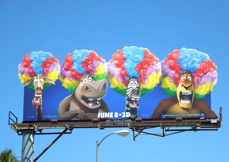 Madagascar 3 wigs billboard