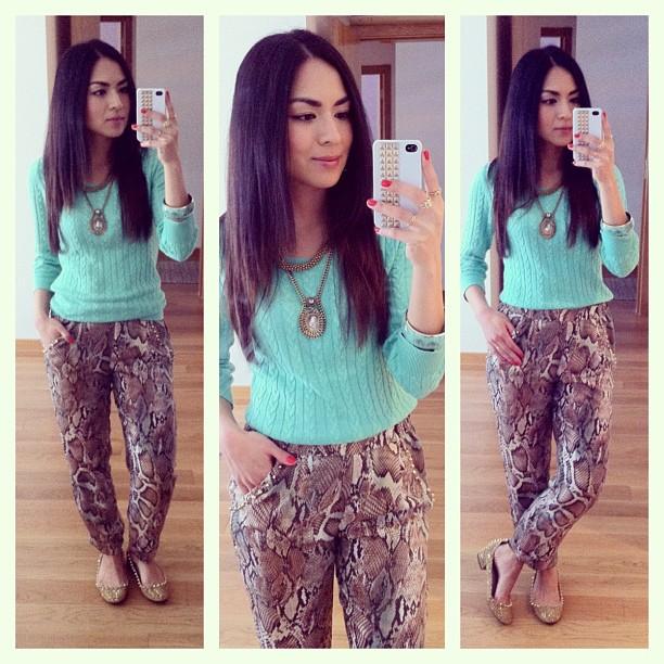 daniela pires, looks, streetstyle, animal print pants, zara, denim shirt, trend, fashion, tendencias