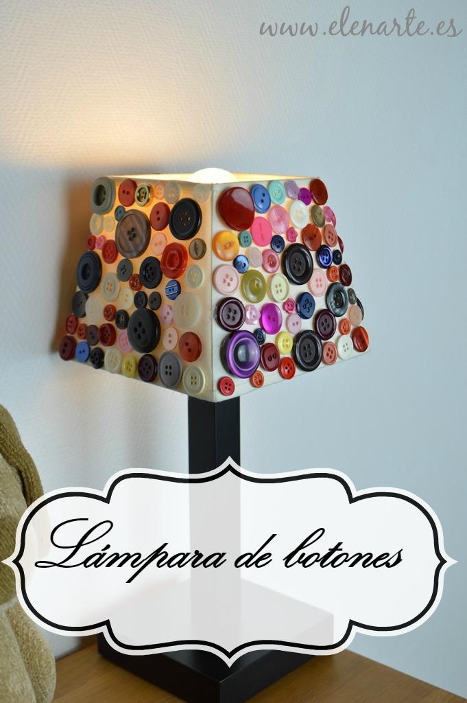 Una lámpara reciclando botones