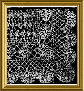 Edwardian Crochet Lace Shawl with wheel insertion