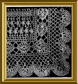 Edwardian Crochet Lace Shawl with wheel insertion