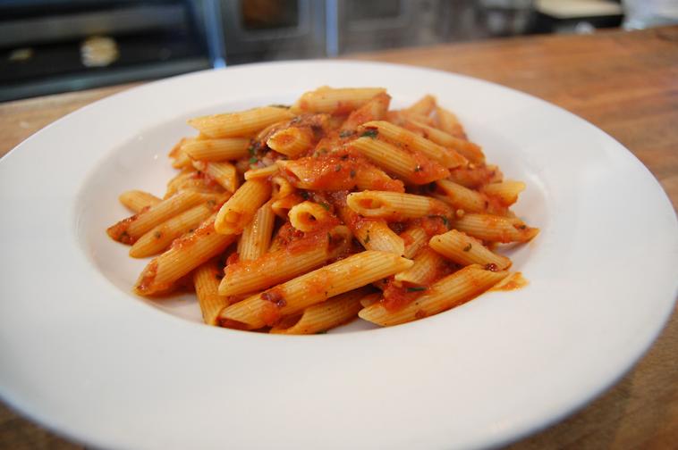 Penne pasta and marinara sauce recipe