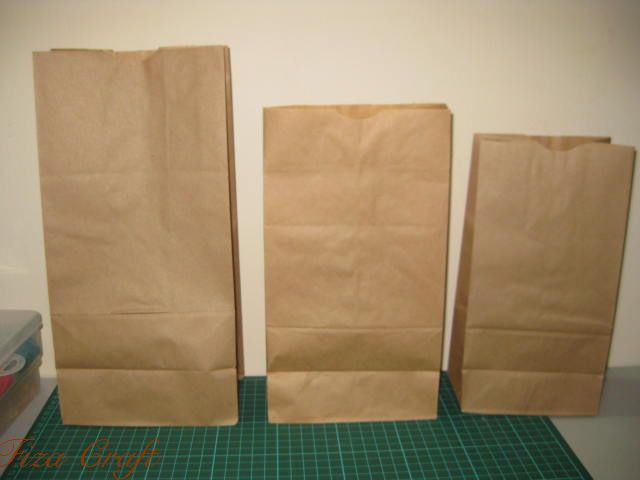 Fiza craft brown paper bag for Brown paper bag craft