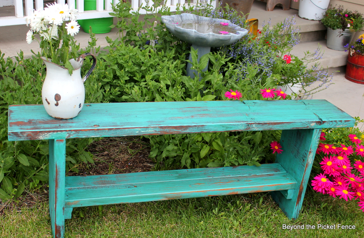 Beyond The Picket Fence From Picnic Table To Bench - Picnic table paint colors