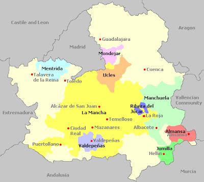 Castilla la Mancha Map Information