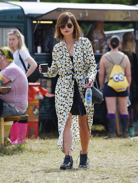 Actress @ Jenna Coleman - 2015 Glastonbury Festival