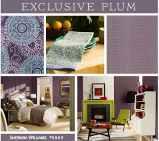Sherwin-Williams, Exclusive Plum, gold, gray, white