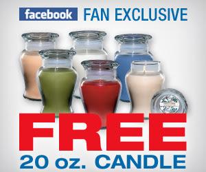 Free 20 oz Candle