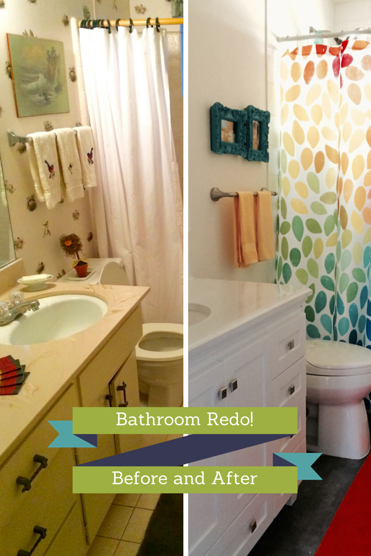 first things first wallpaper - Bathroom Redo
