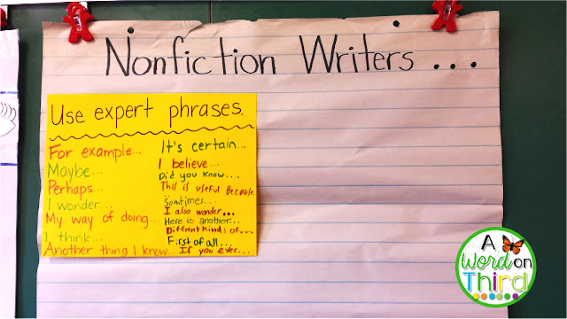 A Word On Third: student-created anchor charts