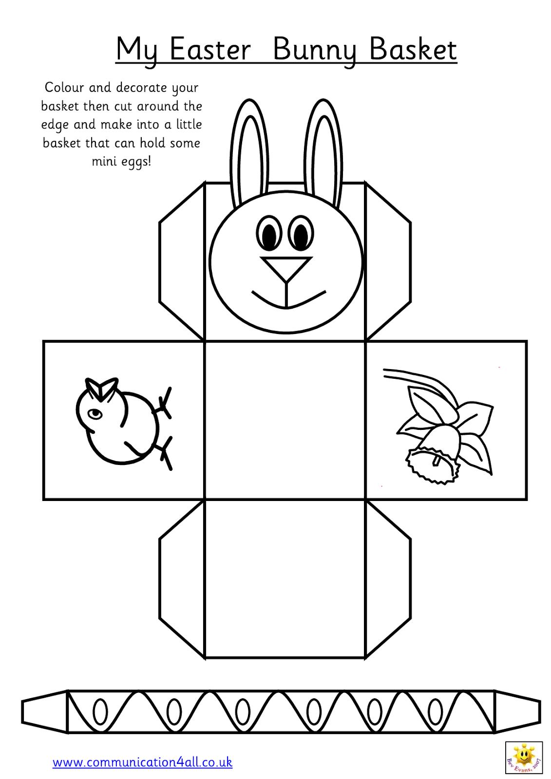 Easter basket template