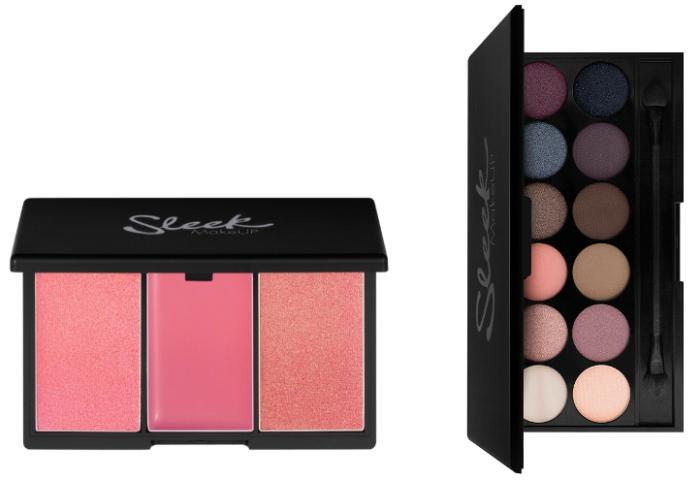Sleek blushes and eyeshadow palette