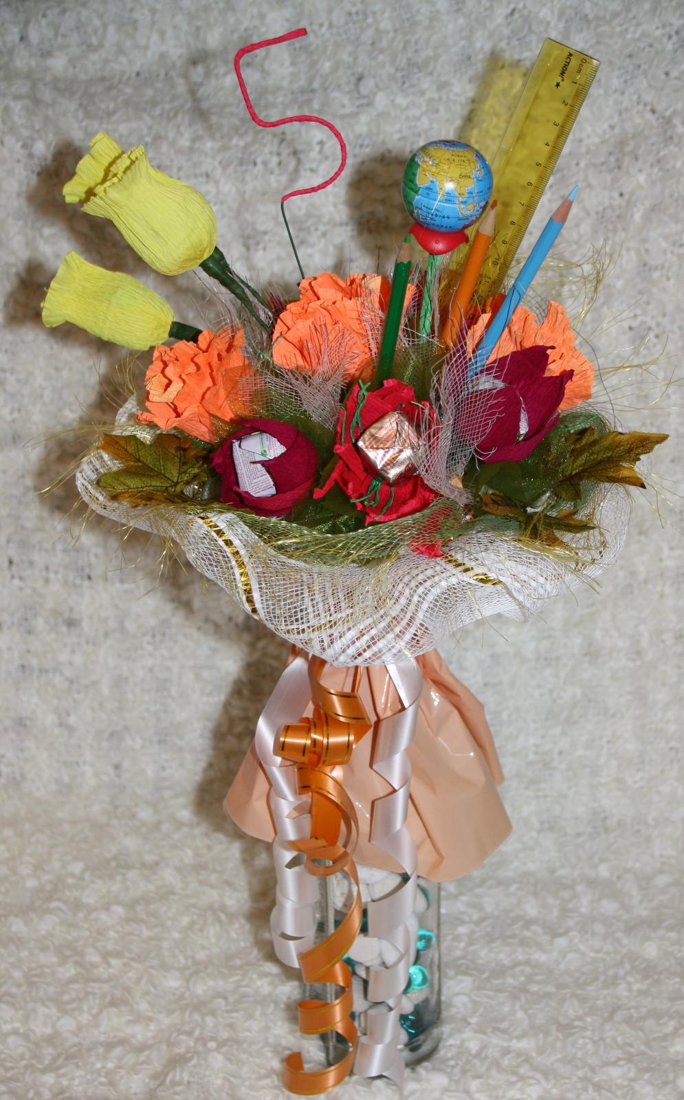 Букет из дачных цветов к 1 сентября своими руками. - Участок и сад 58